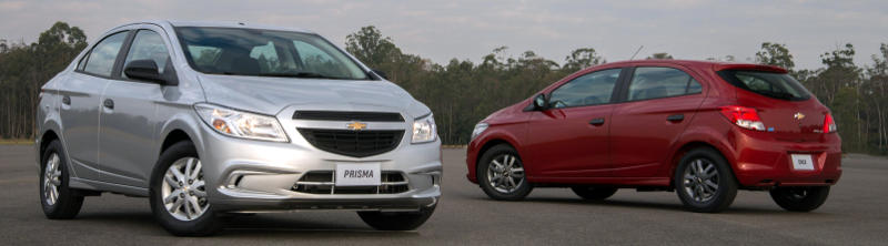 Visual dos Chevrolet Prisma e Onix Joy 2017 é antigo