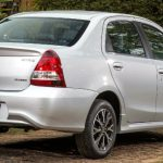 Traseira do Toyota Etios Sedan Platinum 2017