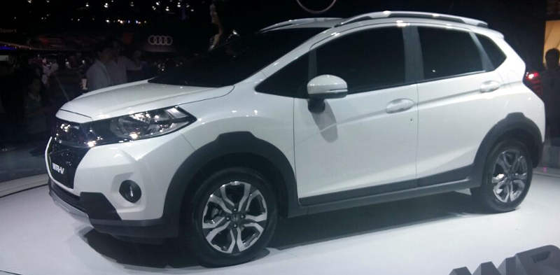 Lateral do Honda WR-V lembra o Fit