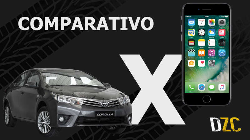 Comparativo ou Duelo entre Apple iPhone e Toyota Corolla