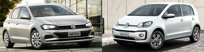 Volkswagen Polo 1.0 2019 X Volkswagen Move Up 1.0 2019