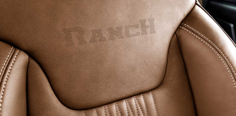 Detalhe do banco da Fiat Toro Ranch 2019