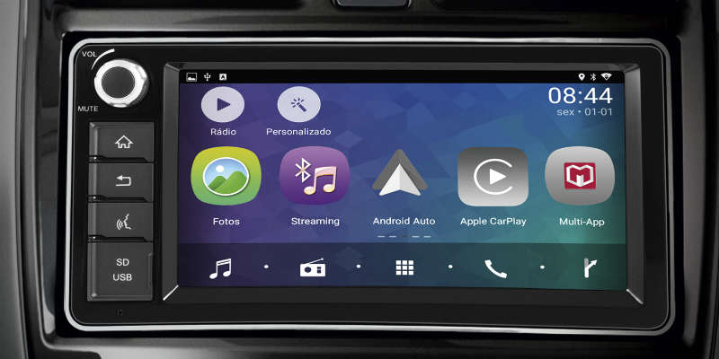 Central multimídia Multi-App dos Nissan Versa e March 2019