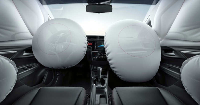Seis airbags do Honda WR-V EXL 2019