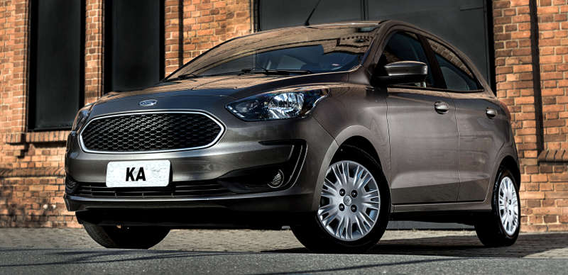 Dianteira do Ford Ka SE Plus 2019