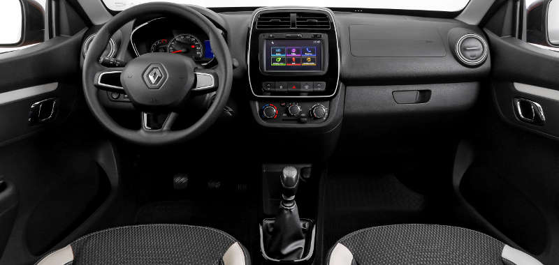 Painel do Renault Kwid Intense