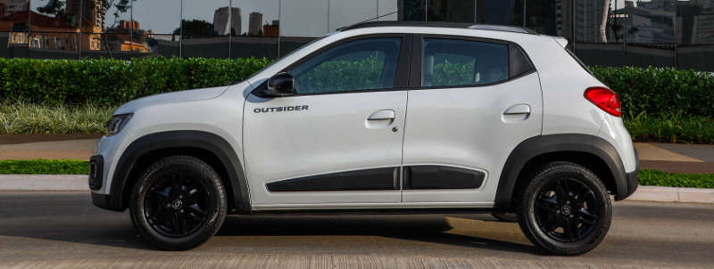 Lateral do Renault Kwid Outsider