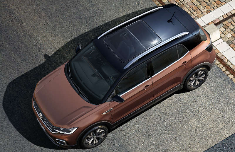 Teto solar e pintura bi-color do Volkswagen T-Cross Highline 2020
