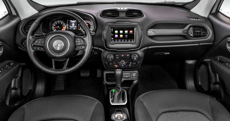 Painel do Jeep Renegade Sport Night Eagle 2020