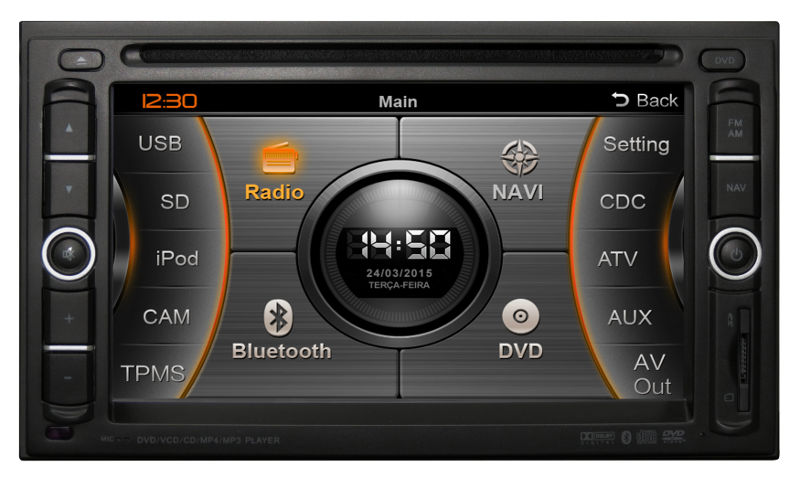 Nissan-Frontier-SV-multimidia-GPS-TV-DVD-painel