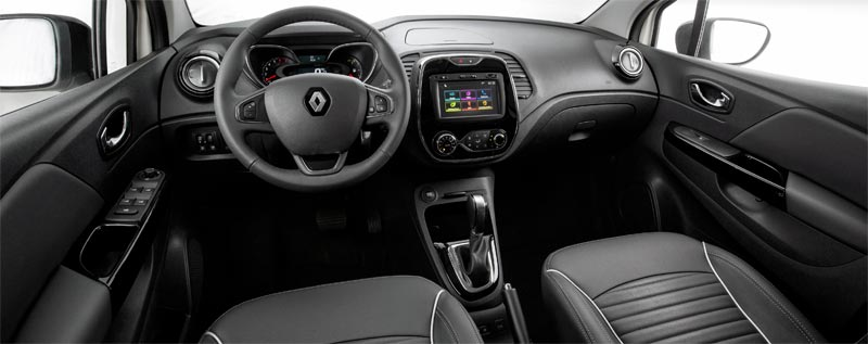 Interior do Renault Captur Intense 2018