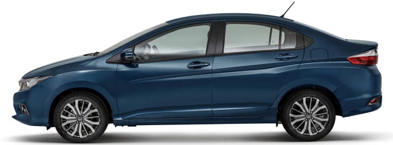 Visual da lateral do Honda City EX 2018