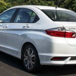 Visual da traseira do Honda City 2018 EXL