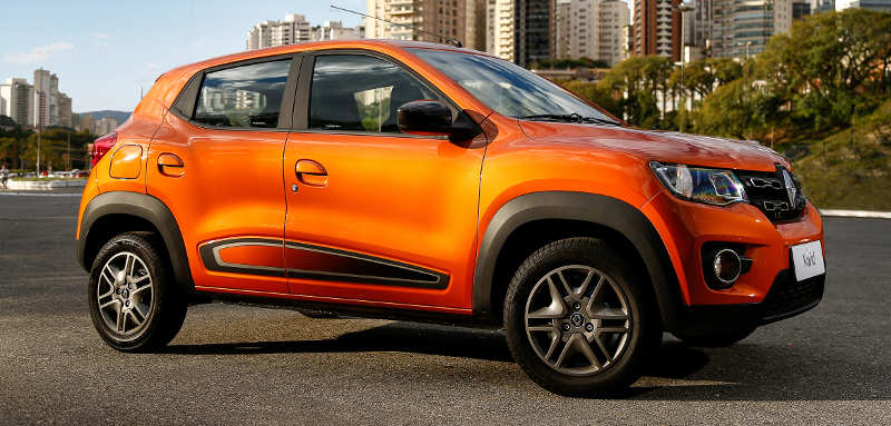 Lateral do Renault Kwid Intense