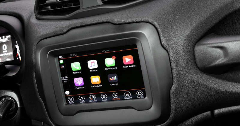 Pacote Uconnect do Jeep Renegade Sport 2020