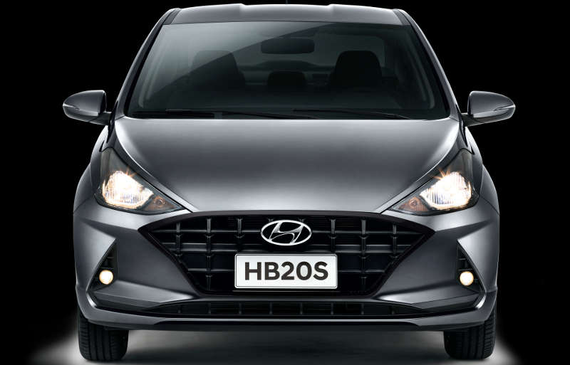 Dianteira do Hyundai HB20S Evolution 2021