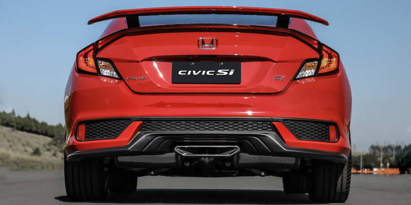 Traseira do Honda Civic Si 2020
