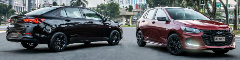 Chevrolet Onix Plus Midnight e Onix RS