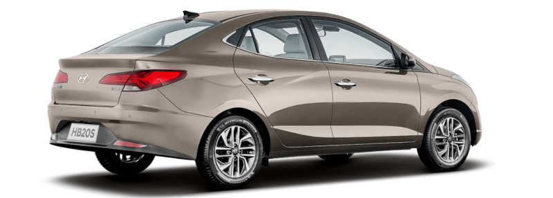 Traseira do Hyundai HB20S Diamond 2021