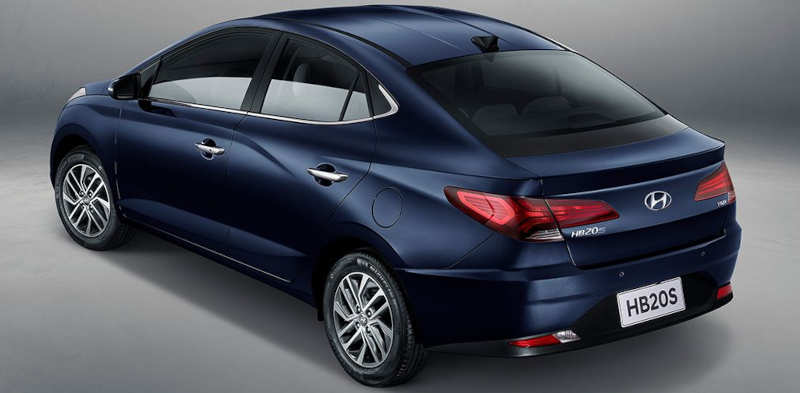 Traseira do Hyundai HB20S Diamond Plus 2021